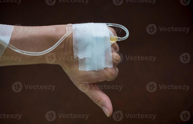 mano del paciente foto