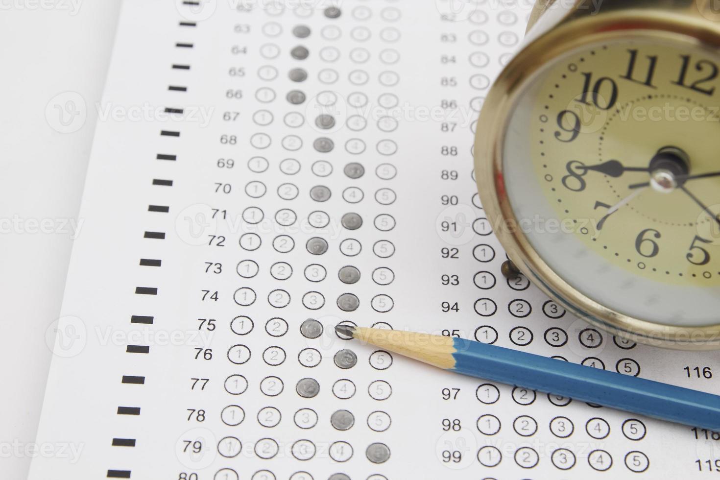 Standardized test form photo