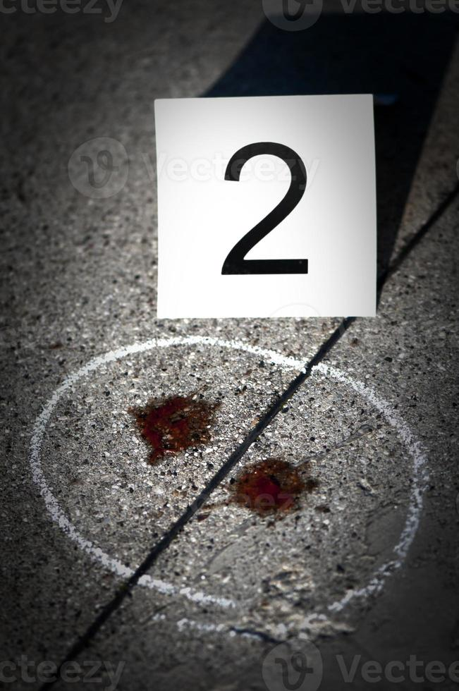 Numbers at the crime scene photo