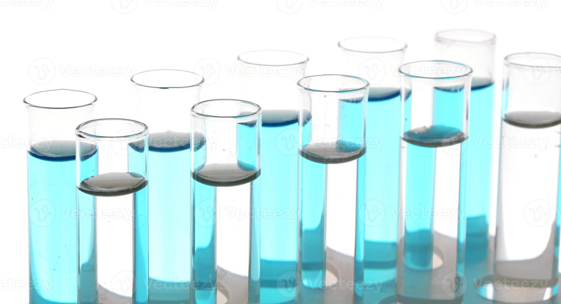 Test tubes isolated on white photo