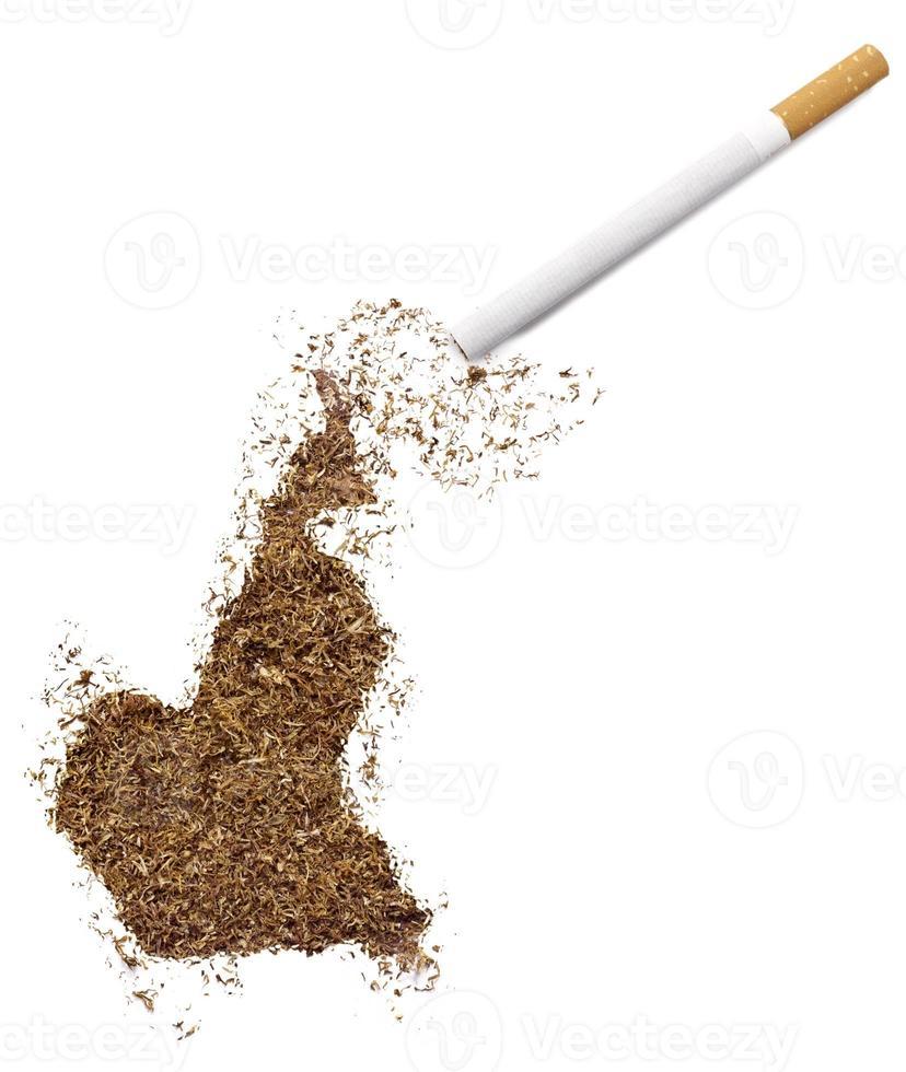 cigarrillo y tabaco con forma de camerún (serie) foto