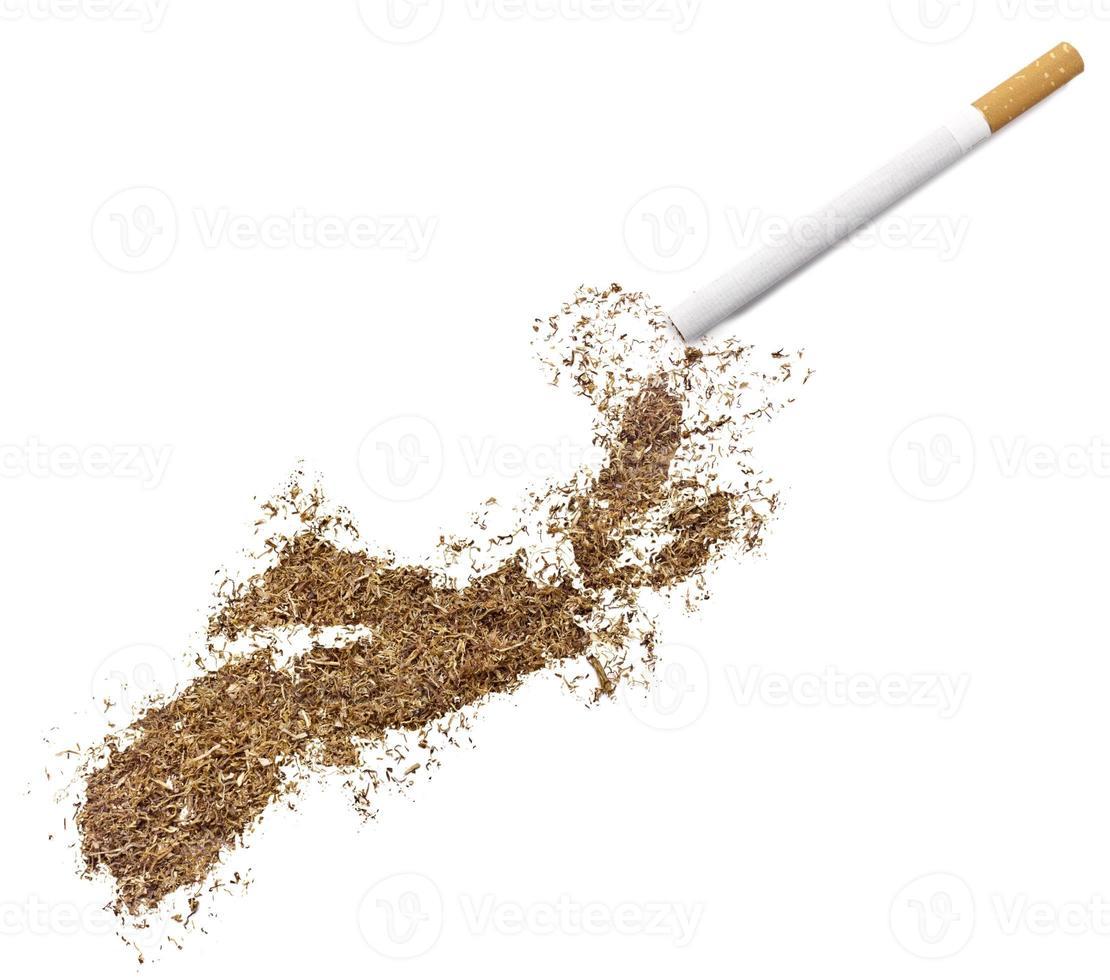 cigarrillo y tabaco con forma de nueva escocia (serie) foto