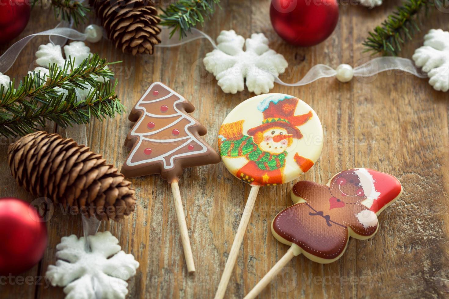 Christmas lollipops photo