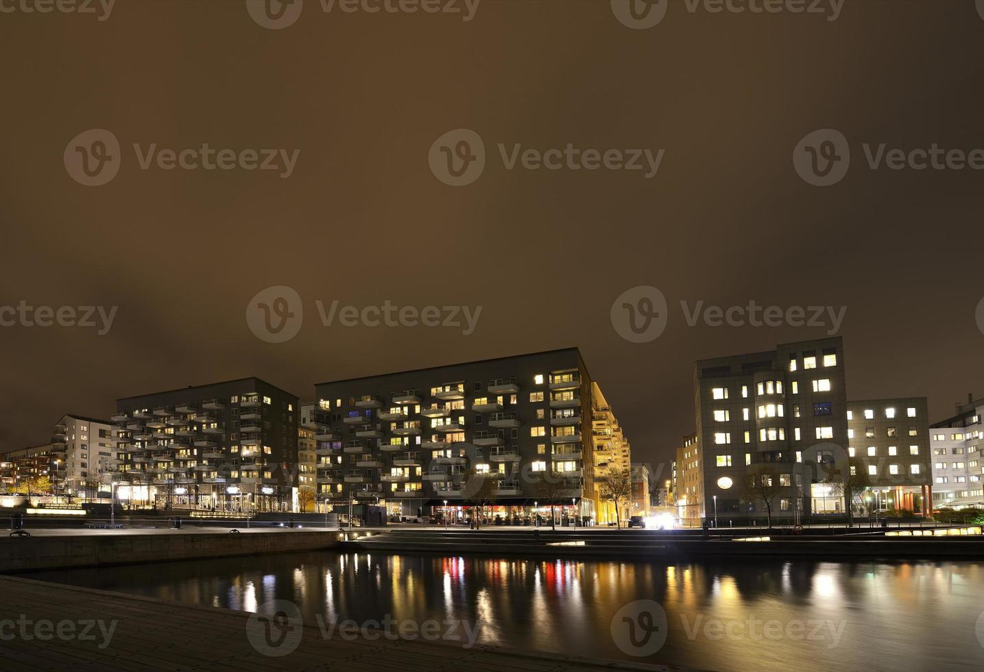 Modern apartment buildings photo