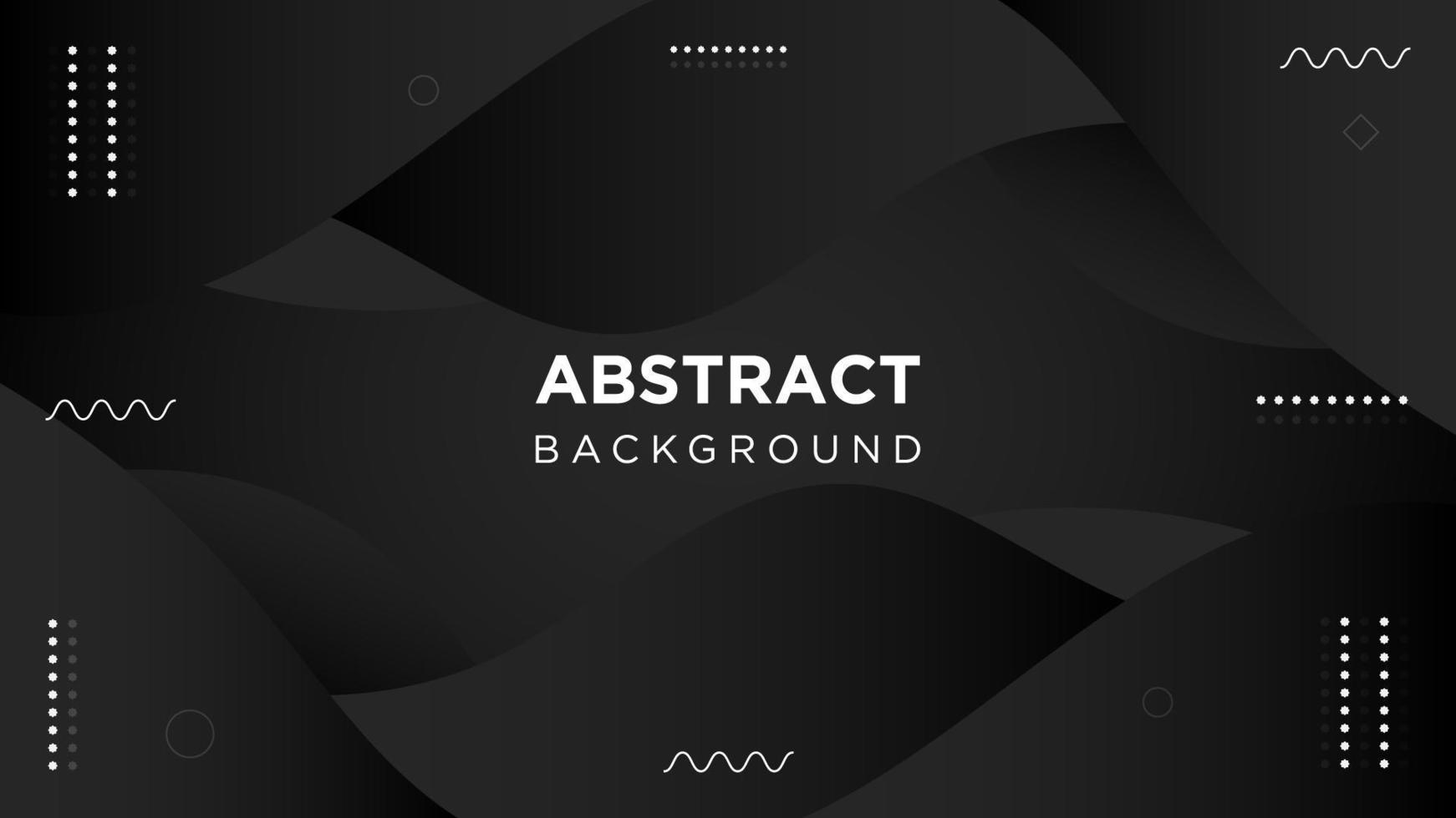 Dark Motion Abstract Curvy Background vector