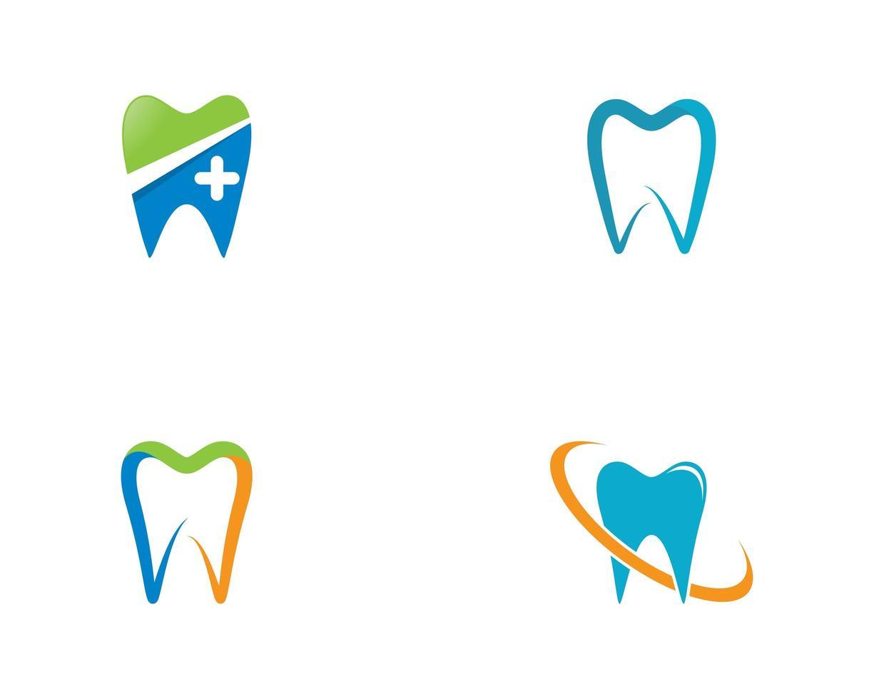 tandlogotypuppsättning vektor
