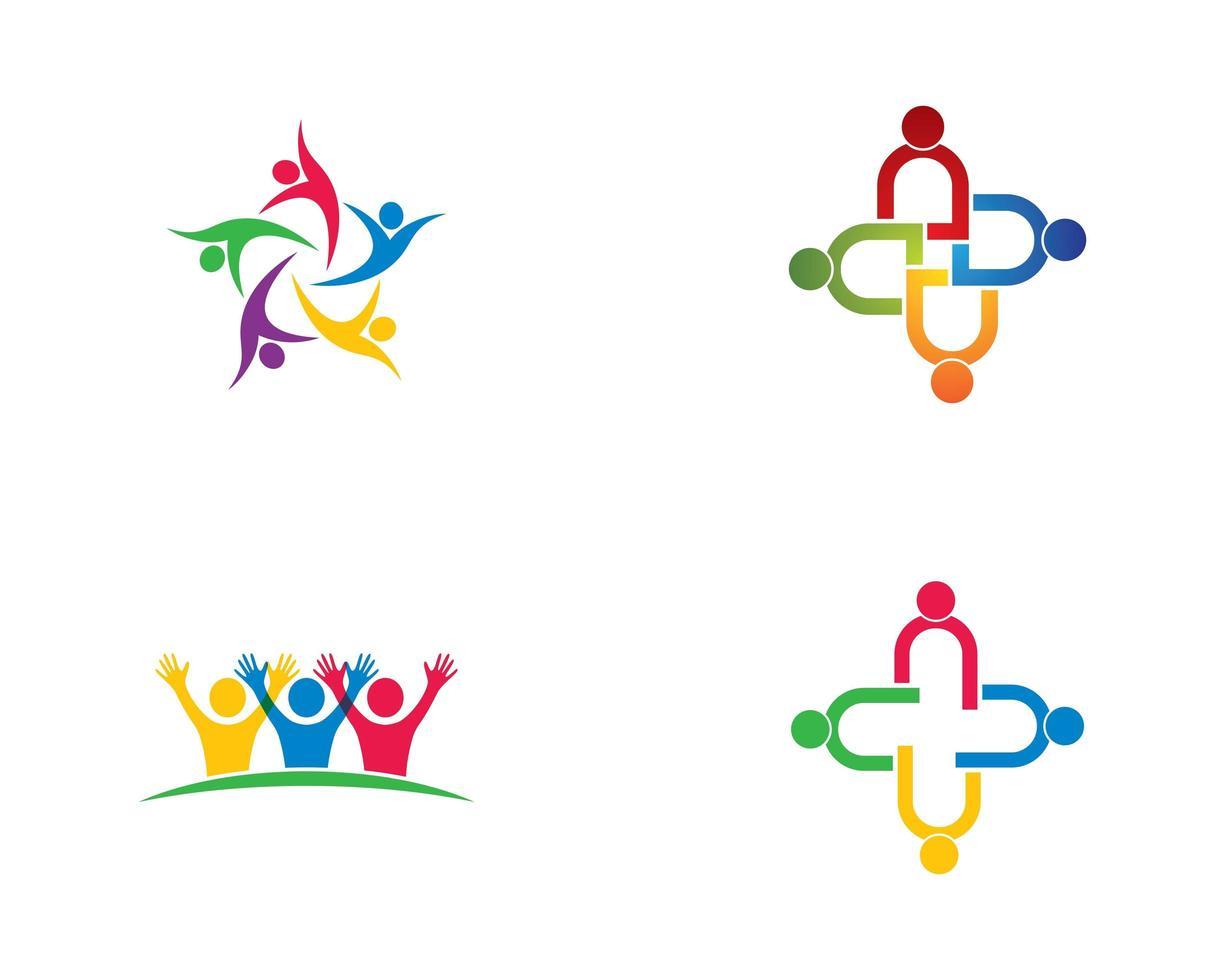 Community logo collection vector