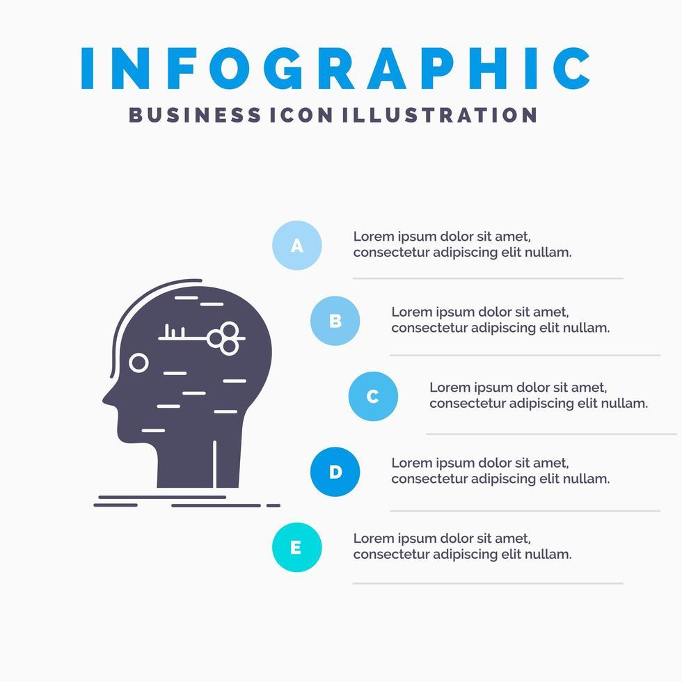 pedagogisk infographic med mind logo design vektor