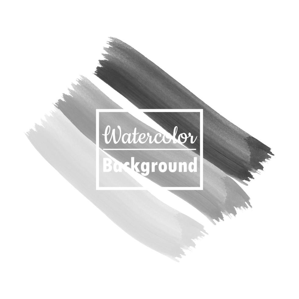 Grey Watercolor Brush Strokes vector