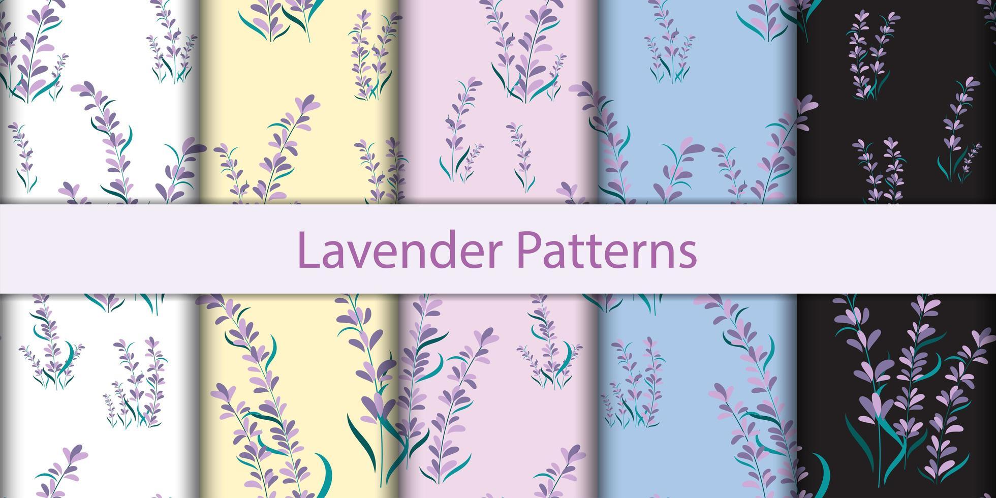 nahtlose florale Lavendelmuster vektor