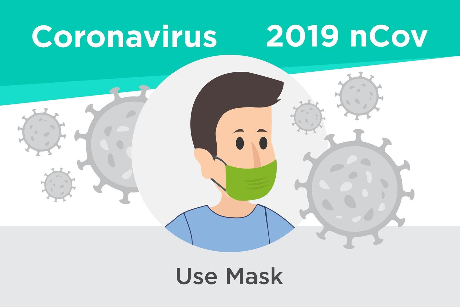Use Mask to Prevent Coronavirus Reminder Poster vector