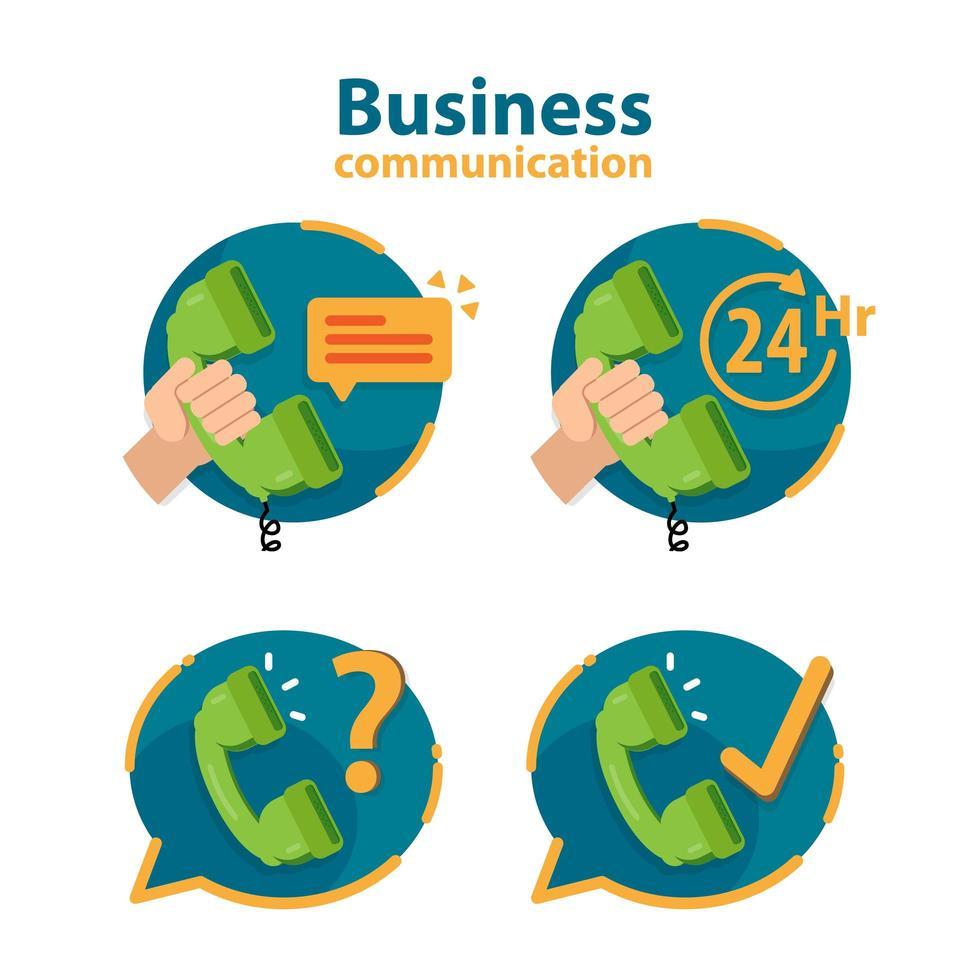 icono de call center con teléfono en globo de diálogo vector