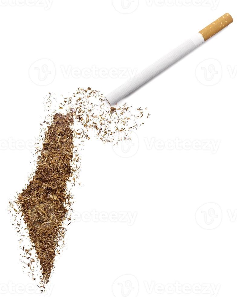 cigarrillo y tabaco con forma de israel (serie) foto
