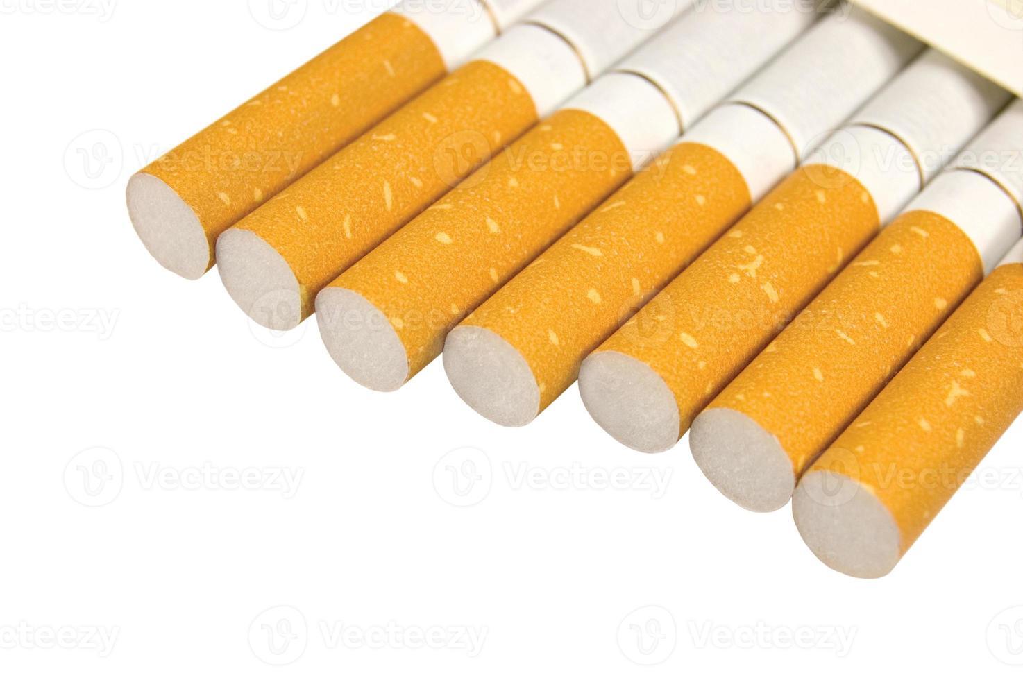 Class A Filter Cigarettes Closeup, Large Isolated Macro Studio Shot photo