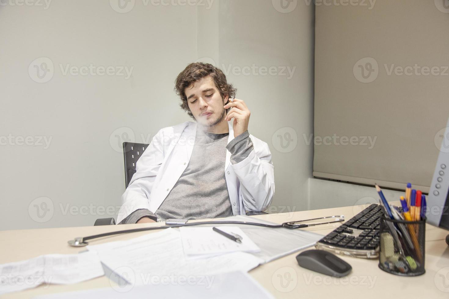 Doctor Smoking photo