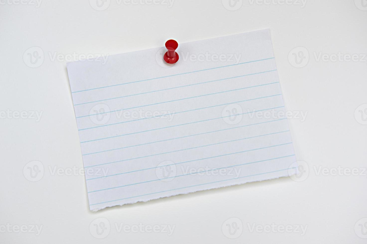 Isolated lined notepaper photo