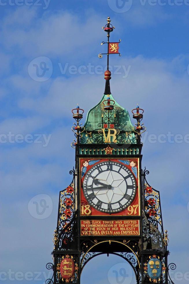 Torre del reloj de Chester, Chester, Reino Unido foto