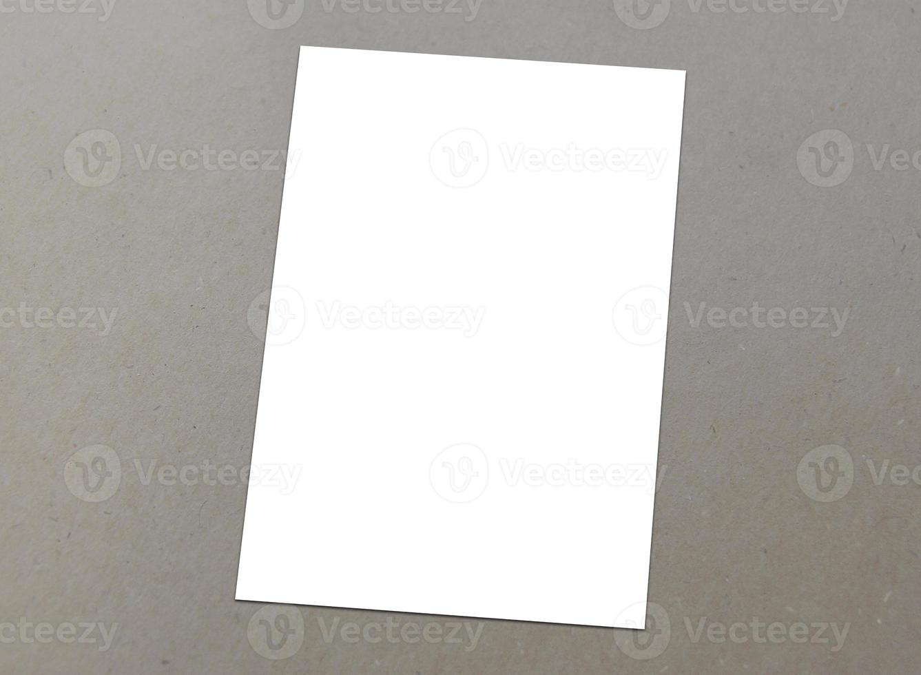 Blank white A 4 flyer collection - 2 photo