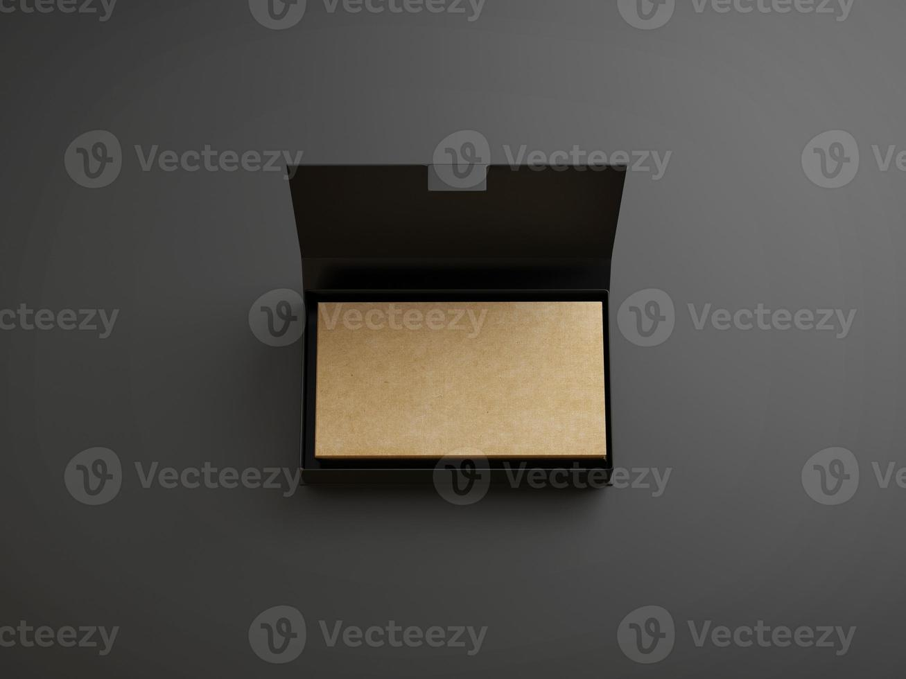 Kraft business cards in the black box photo