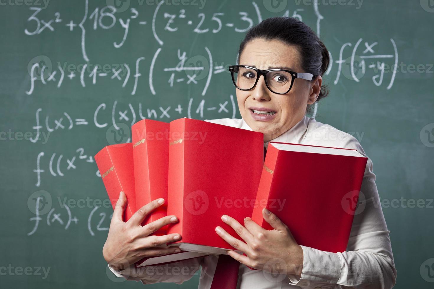 Nerdy math teacher photo