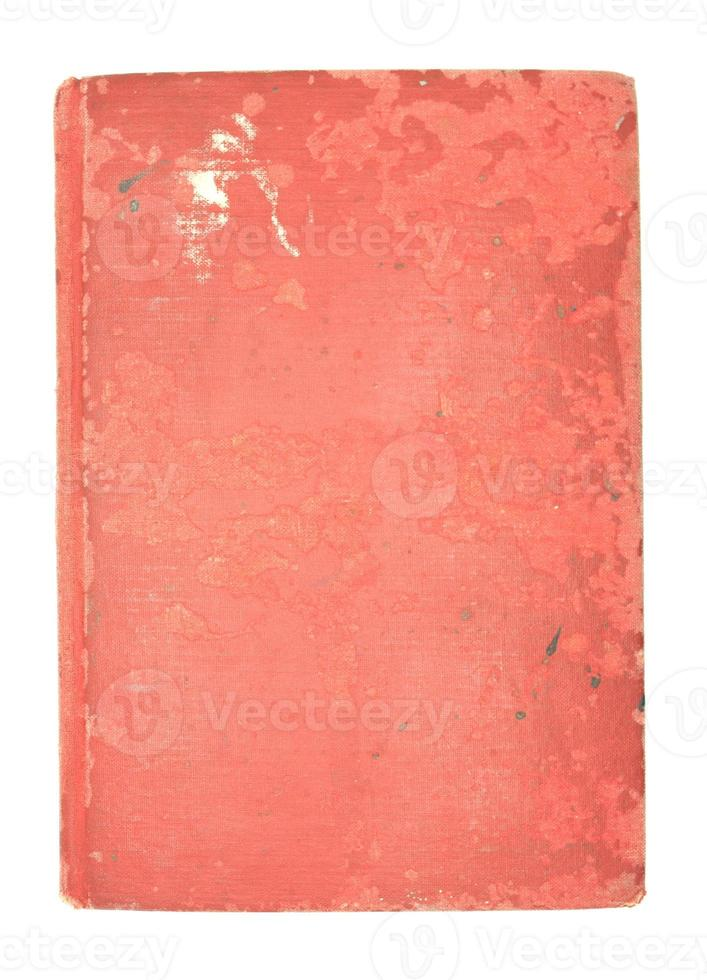 Old math book on white background photo