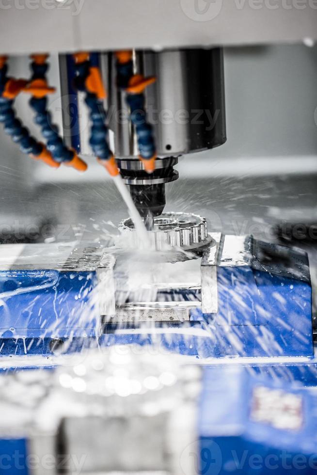 Metalworking CNC milling machine. photo