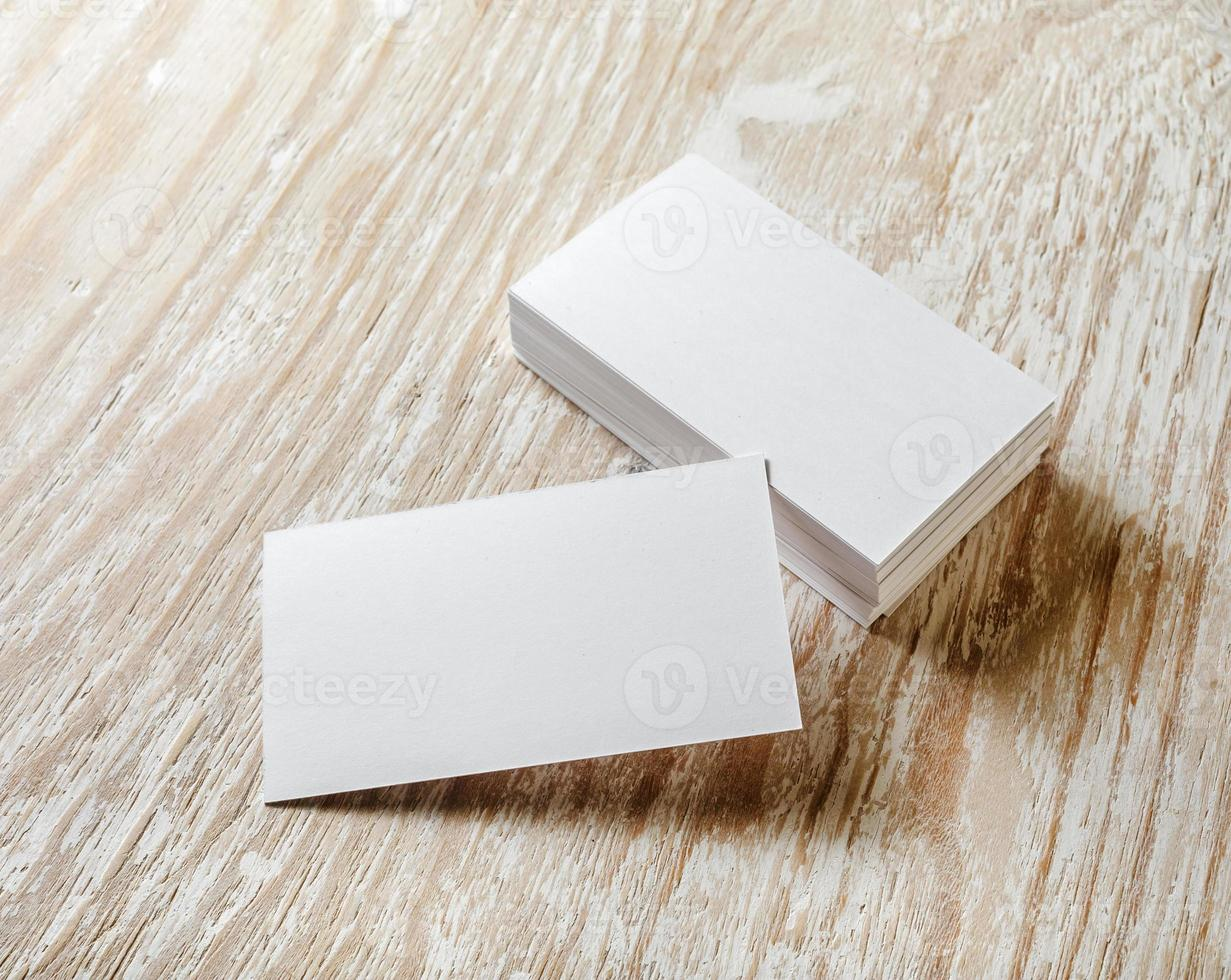 Blank business cards photo