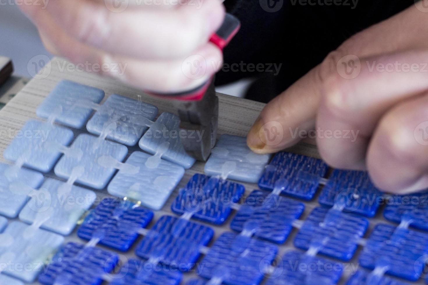 fabricación de mosaicos foto