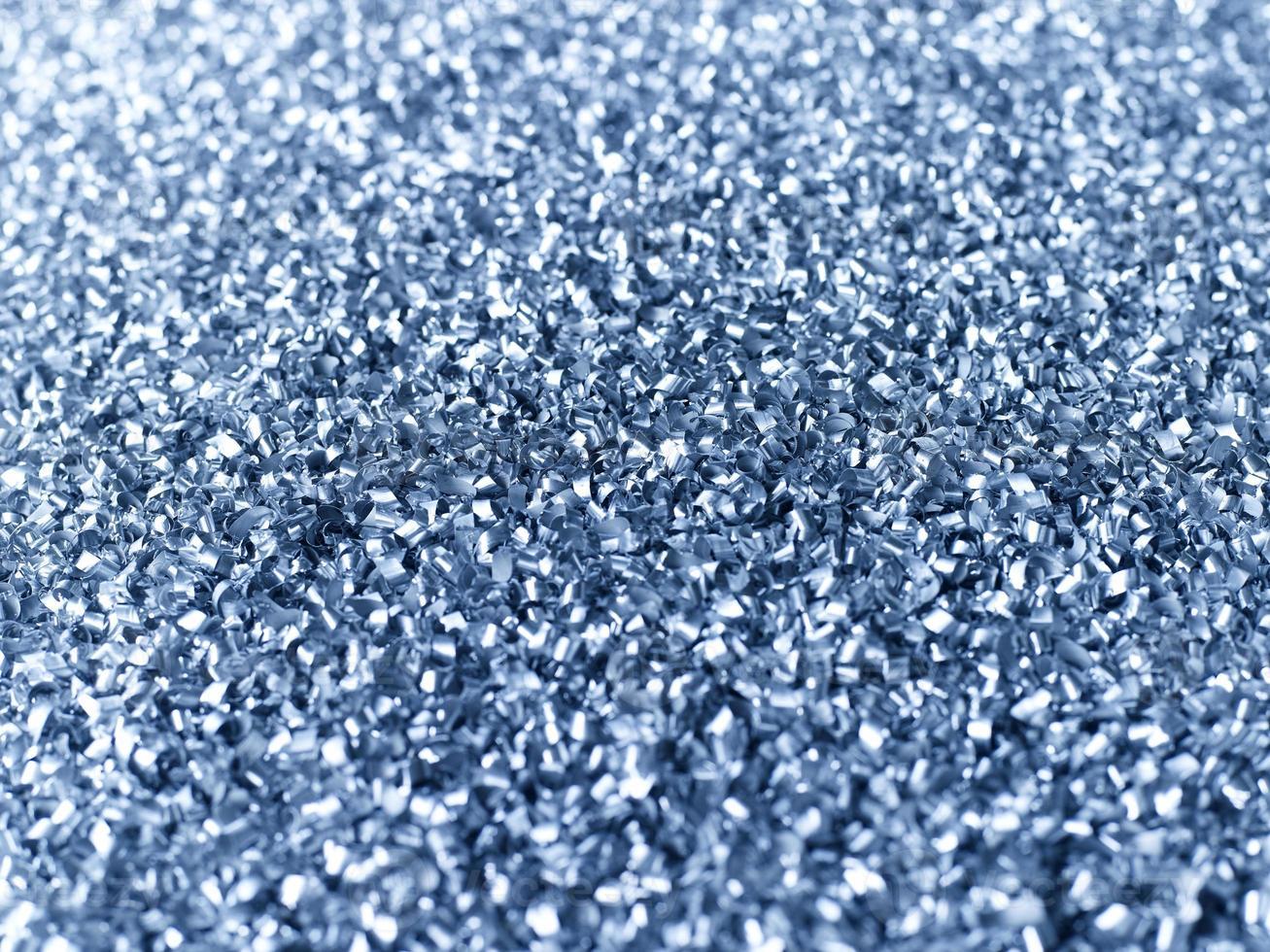 chips de aluminio reunidos para reciclar foto
