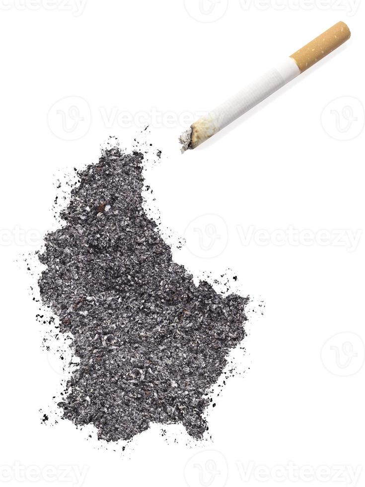 Ash shaped as Luxembourg and a cigarette.(series) photo