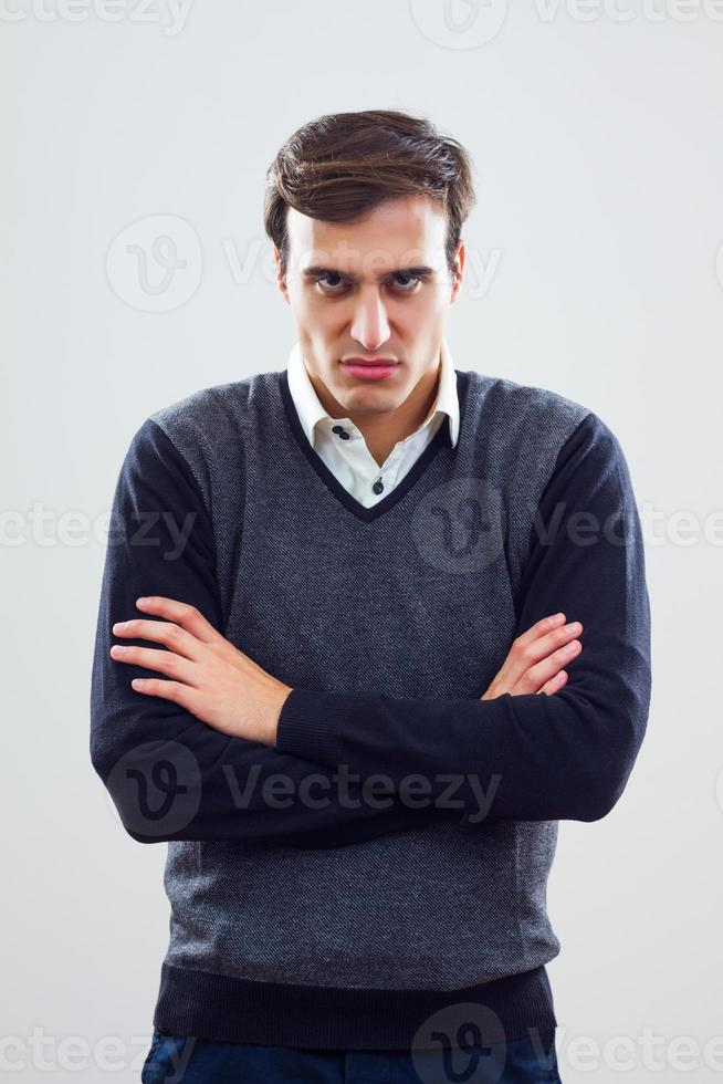 Angry businessman photo