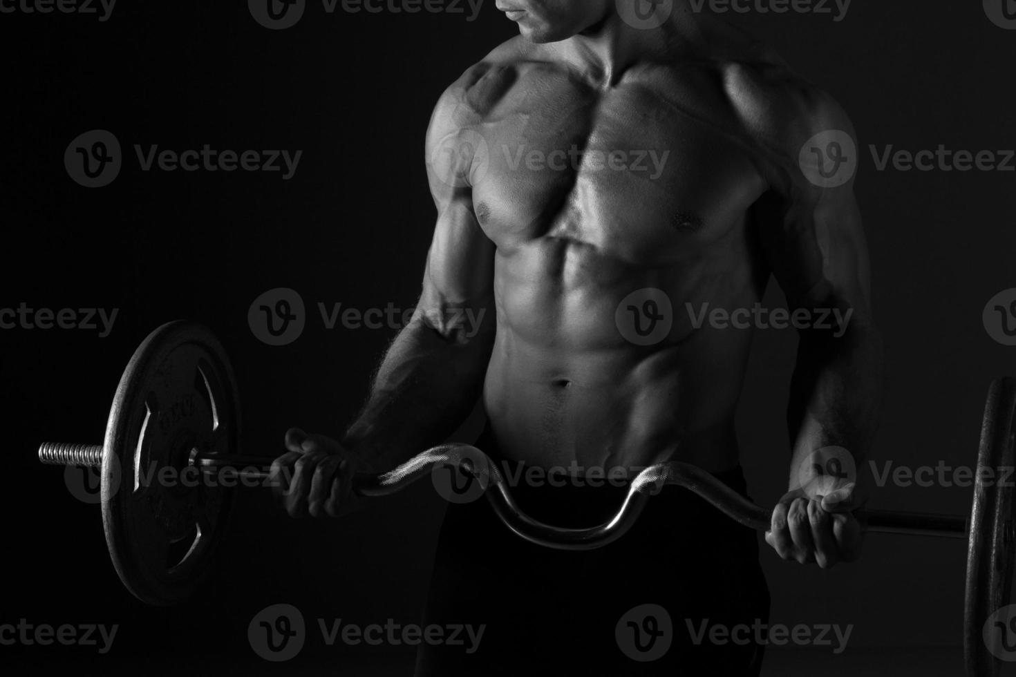 Sculpted Torso And Barbell photo