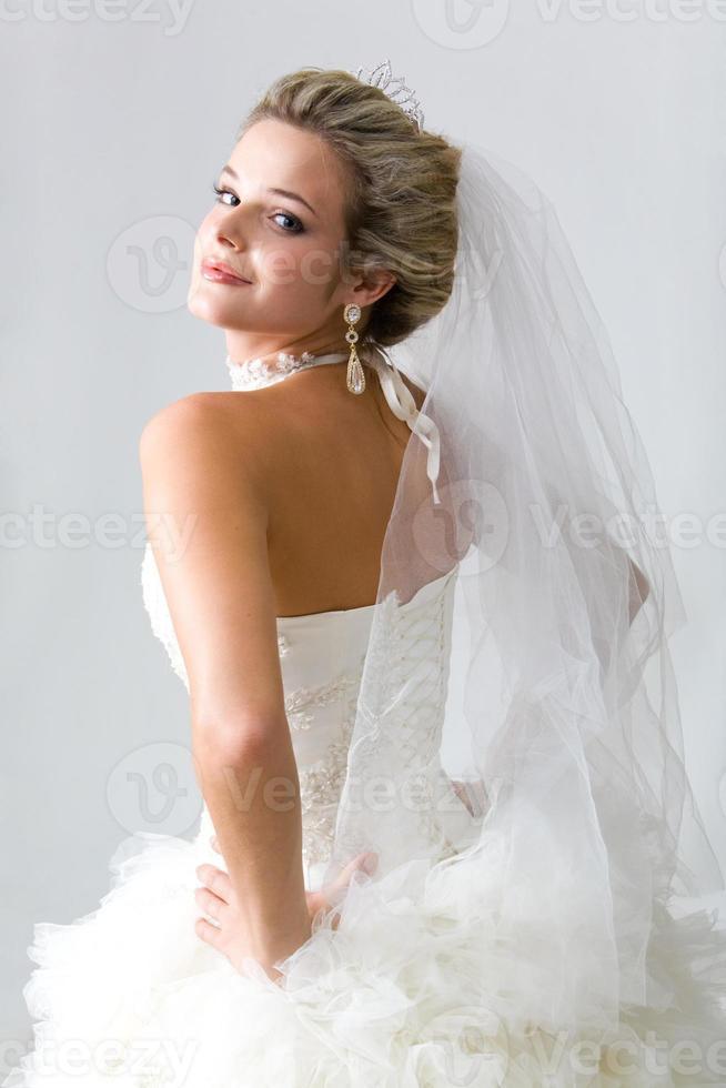 Self-confident fiancee photo