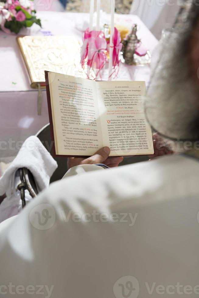 Reading the bible. photo