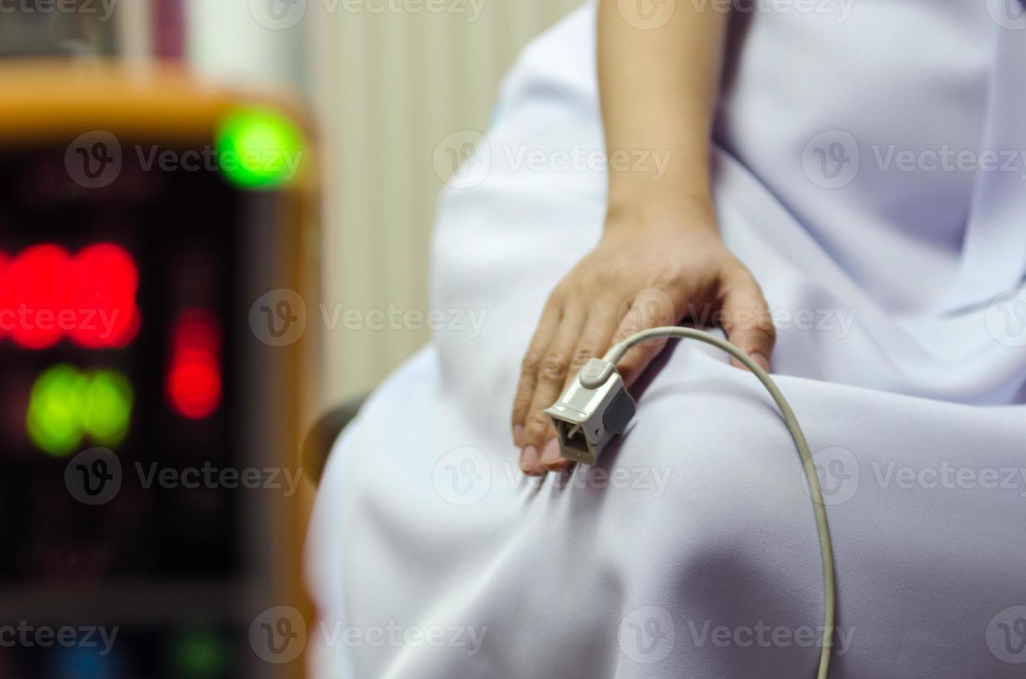 equipo medico y oxigeno foto