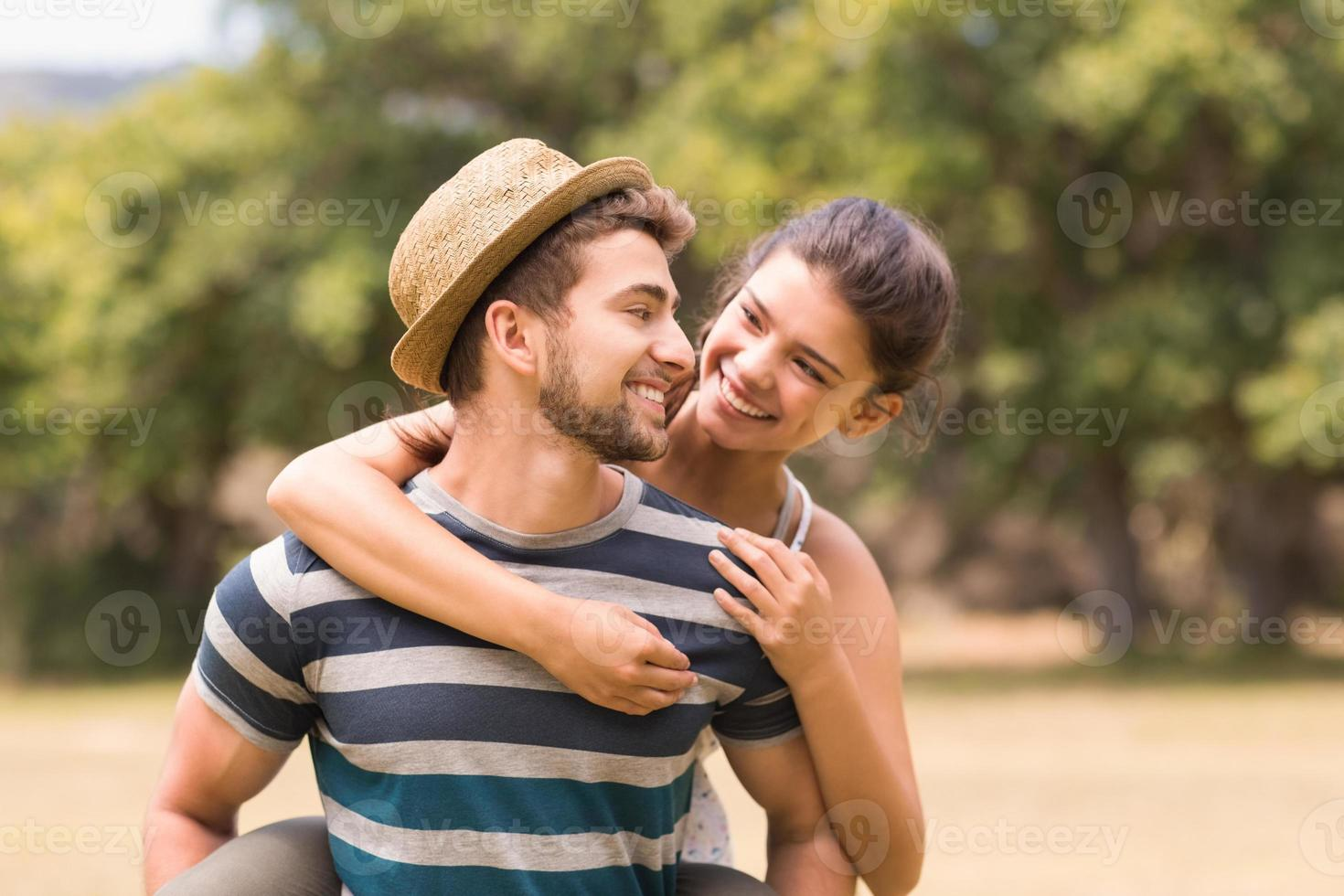 Cute couple in the park photo