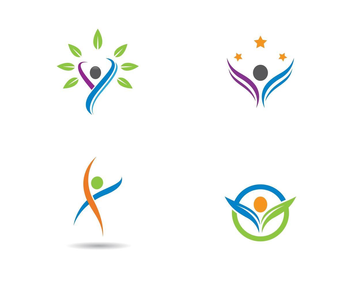 gesundes Leben Logo gesetzt vektor