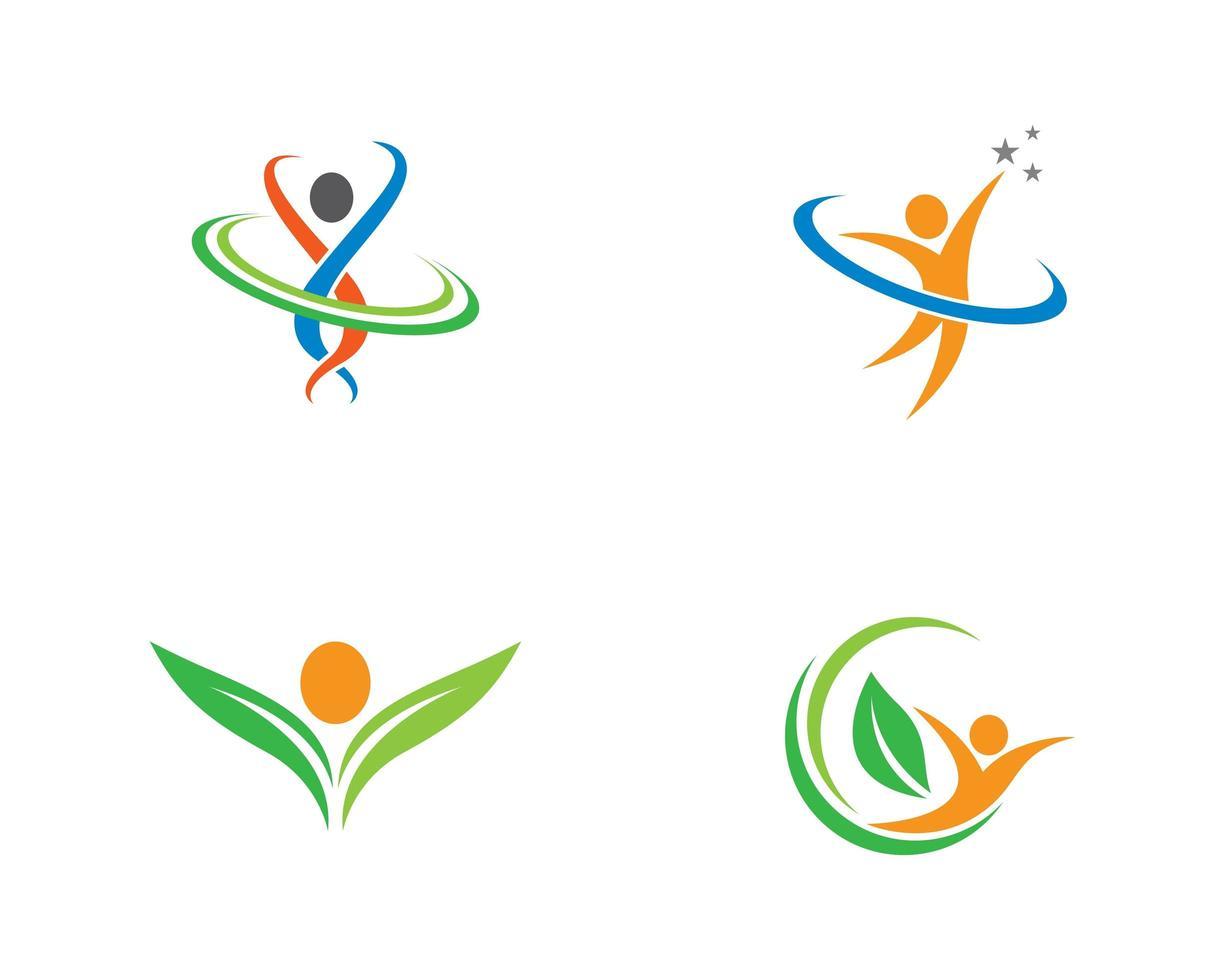 gesundes natürliches Leben Logo gesetzt vektor