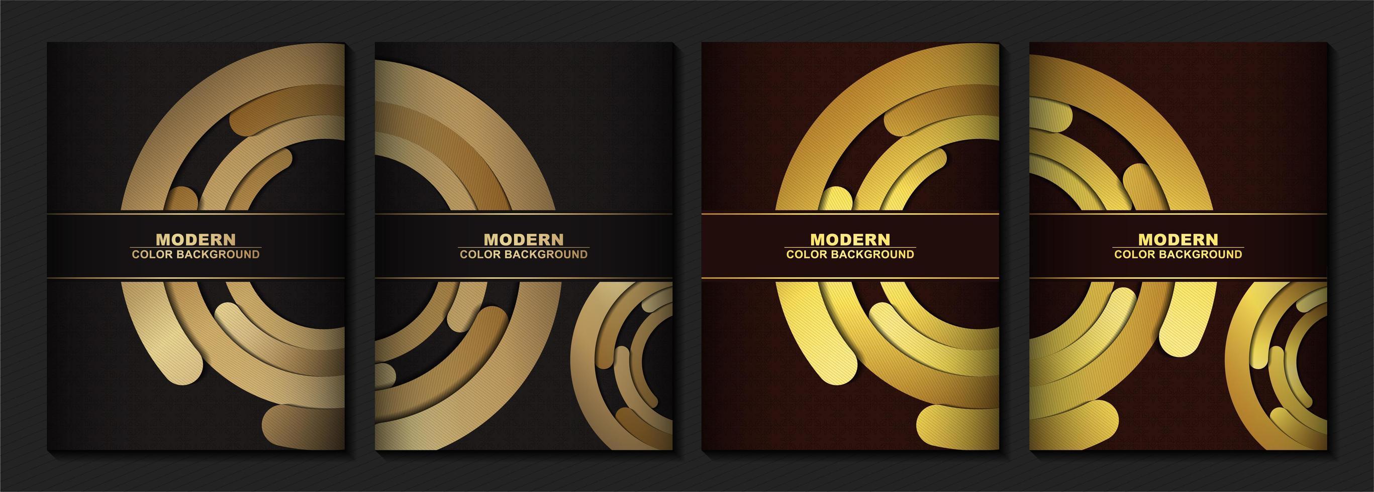 cubierta moderna en oro vector
