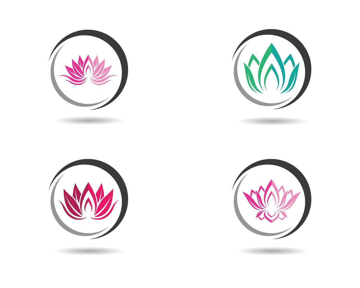 conjunto de iconos de logotipo colorido redondo vector