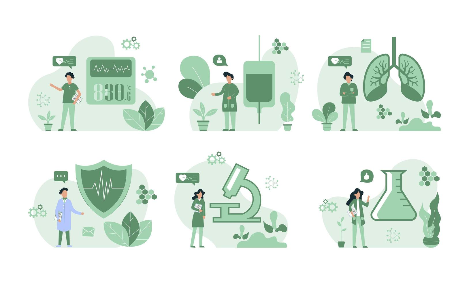 Health Insurance Infographic Collection  vector