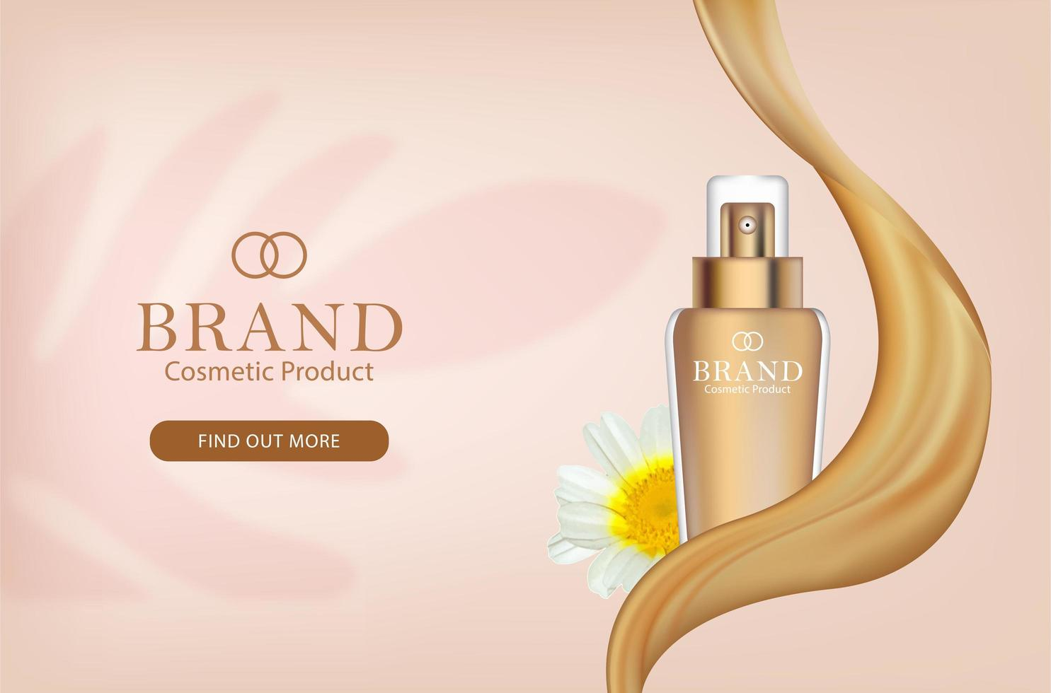Promotional Banner for Facial Cosmetics  vector