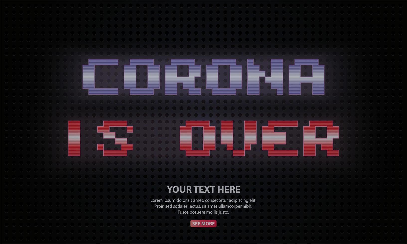 el coronavirus ha terminado vector