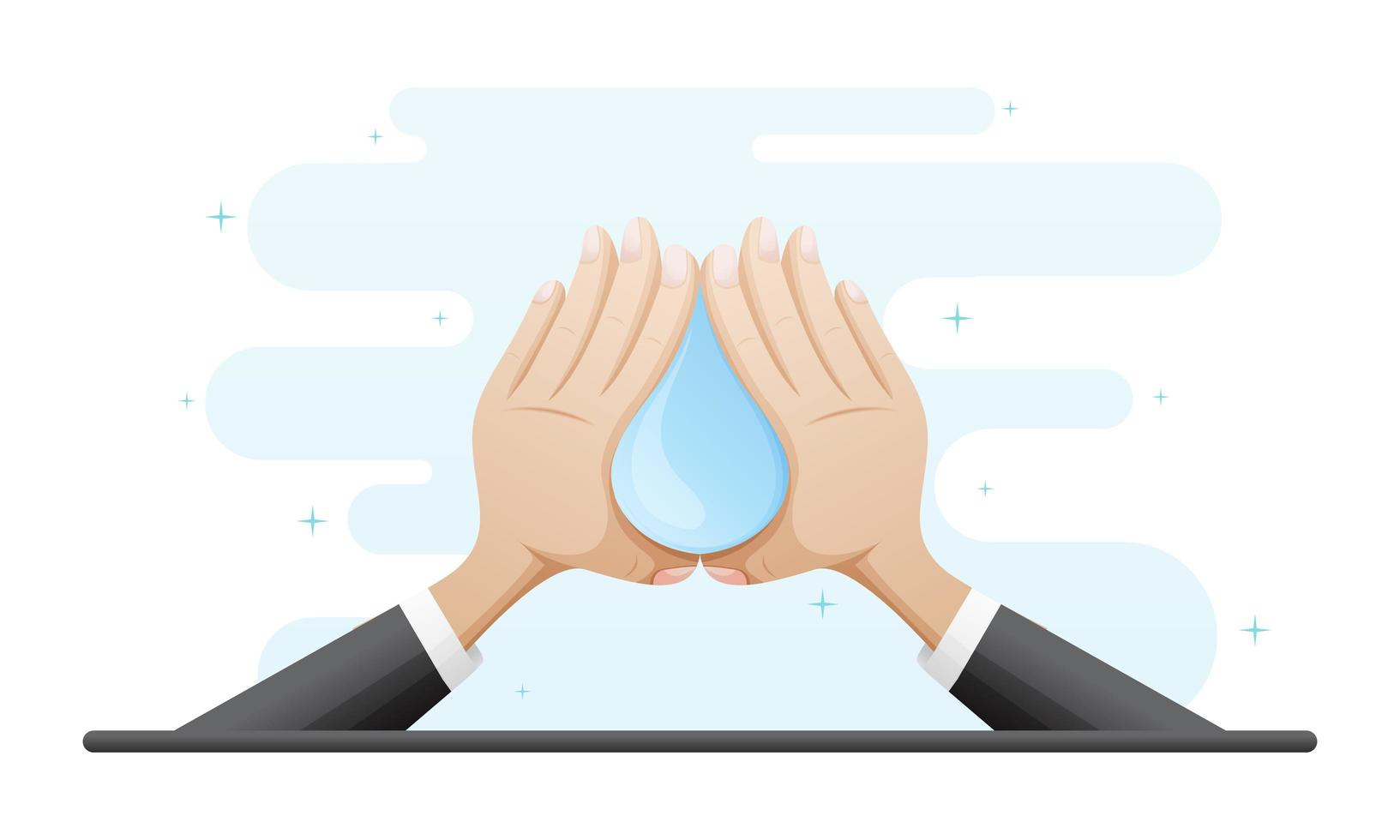 Washing Hands Concept Illustration vector