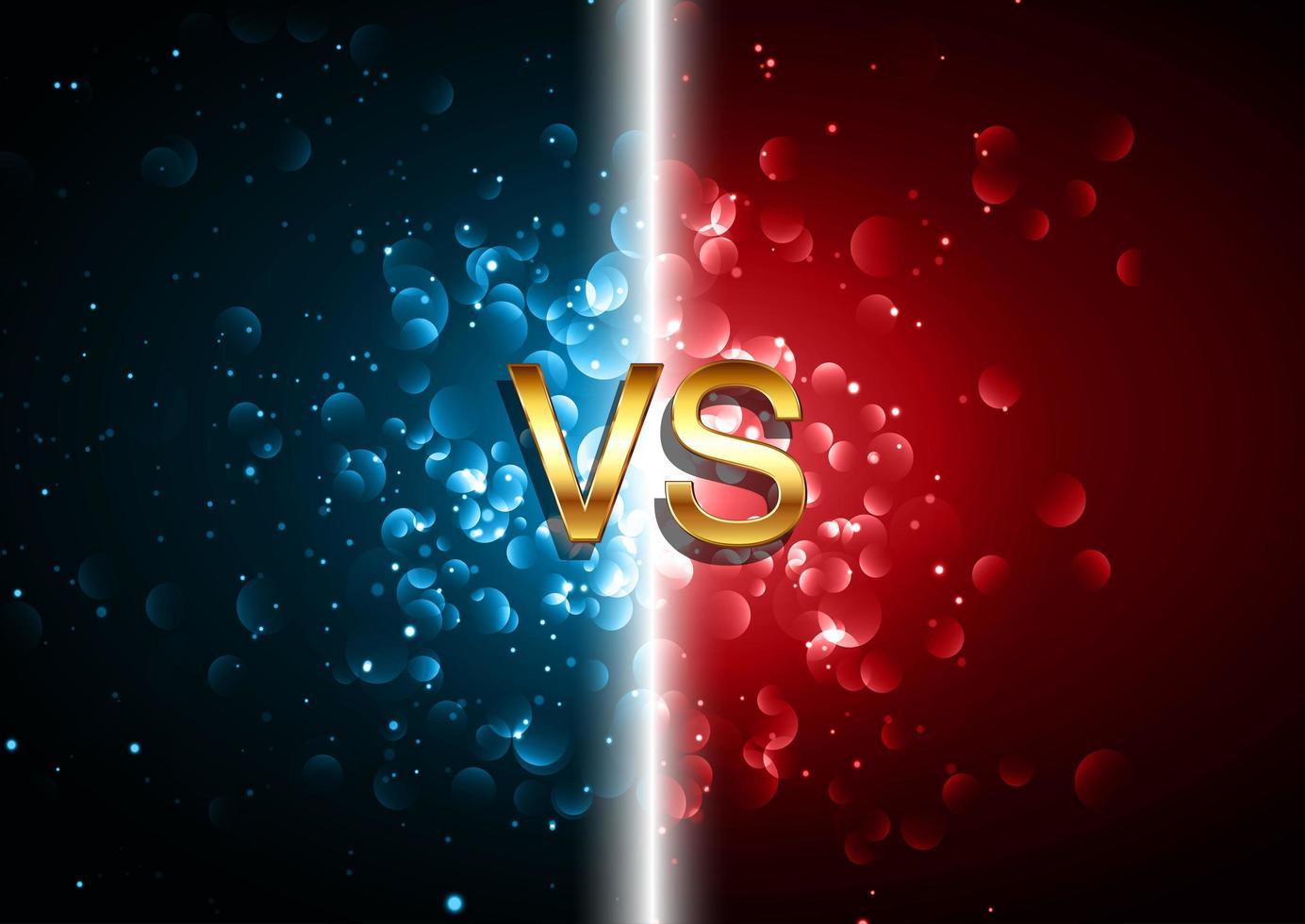 versus pantalla de batalla vector