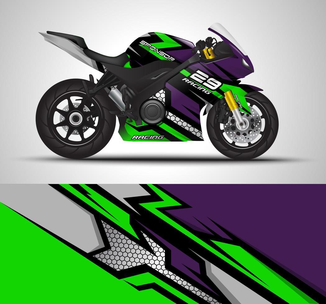 Motorcycle sportbike wrap decal  vector