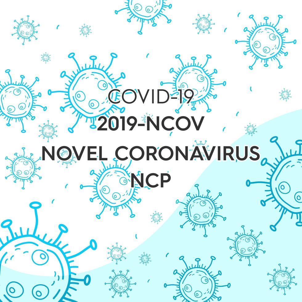 Blue Coronavirus Background vector