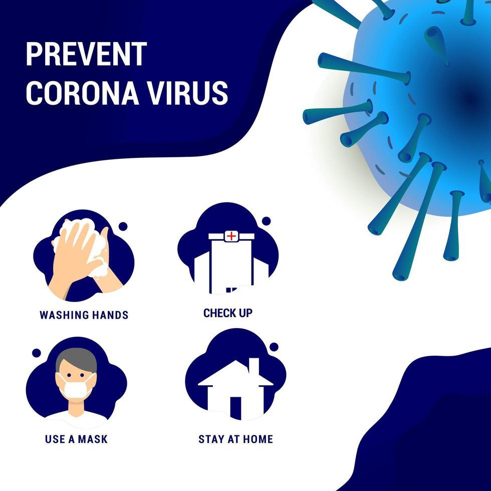 Prevent Coronavirus Chart vector