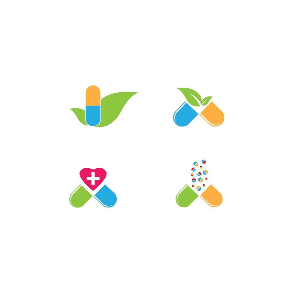 Conjunto De Plantillas De Logotipo De Farmacia Descargar Vectores Gratis Illustrator Graficos Plantillas Diseño