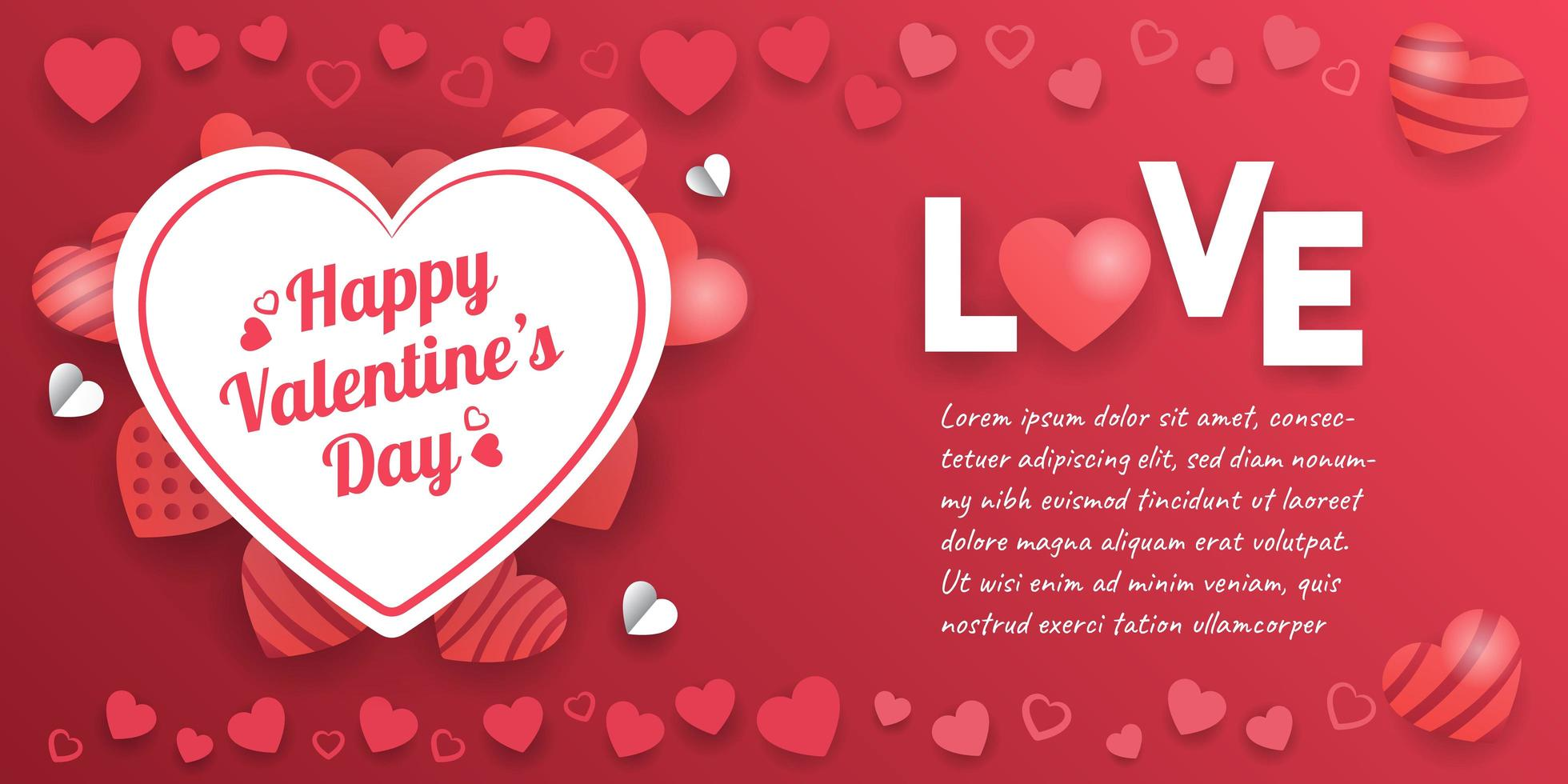 Valentine S Day Banner With Heart Decorations Download Free Vectors Clipart Graphics Vector Art This is such a pretty animation, with the pink hearts, arrows. https www vecteezy com vector art 963000 valentine s day banner with heart decorations